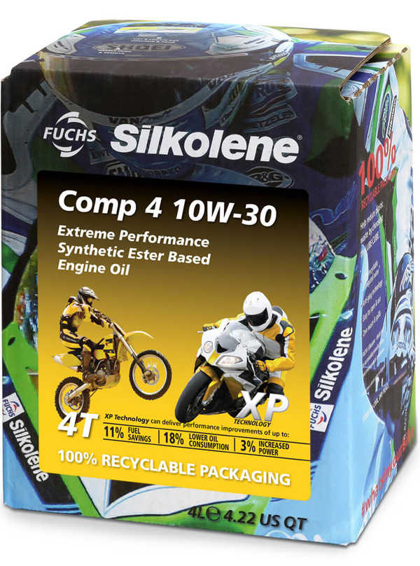 FUCHS Silkolene Comp 4 10W-30 XP Motorcycle Oil