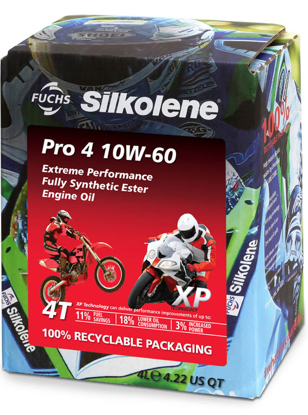FUCHS Silkolene Pro 4 10W-60 XP Motorcycle Oil