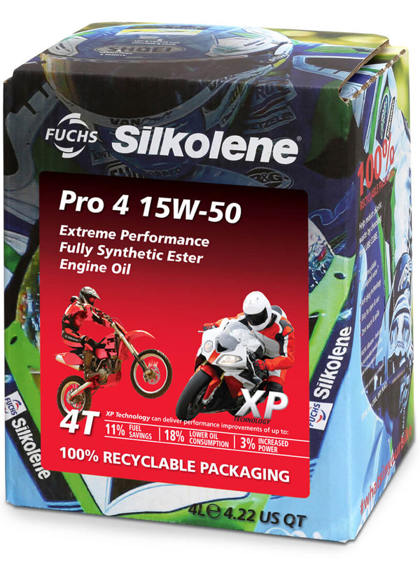 FUCHS Silkolene Pro 4 15W-50 XP Motorcycle Oil