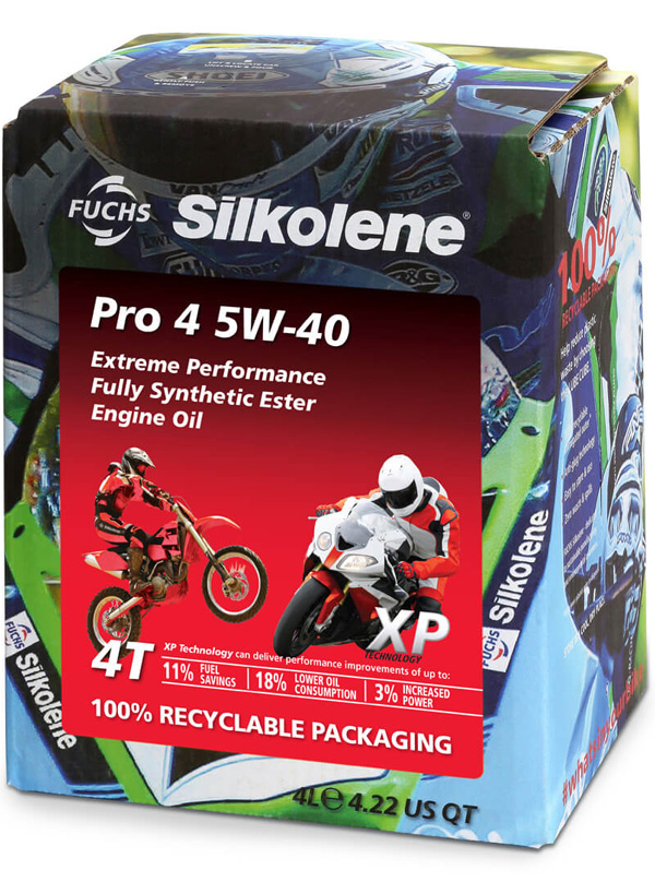 FUCHS Silkolene Pro 4 5W-40 XP Motorcycle Oil