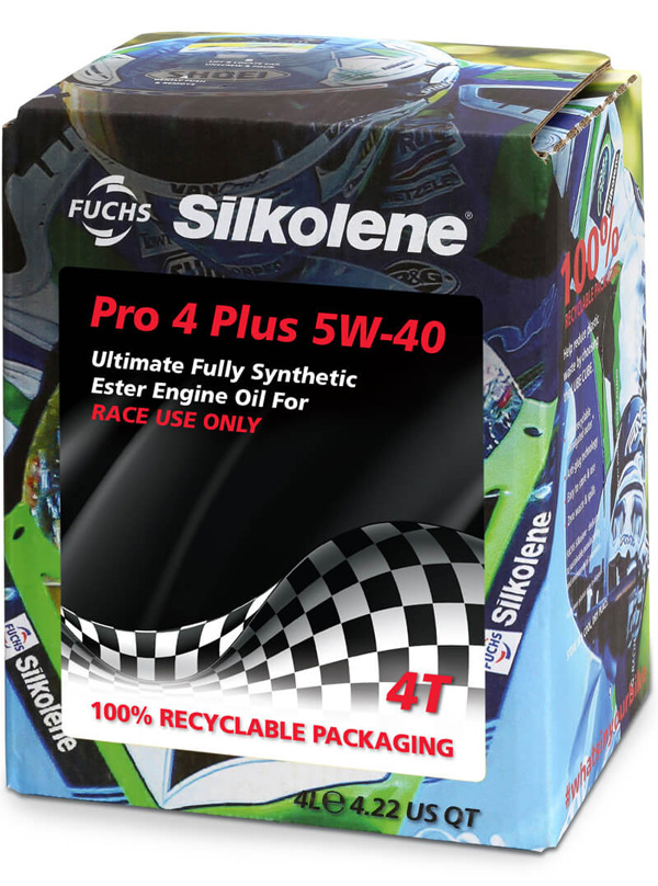 FUCHS Silkolene Pro 4 Plus 5W-40 Motorcycle Oil