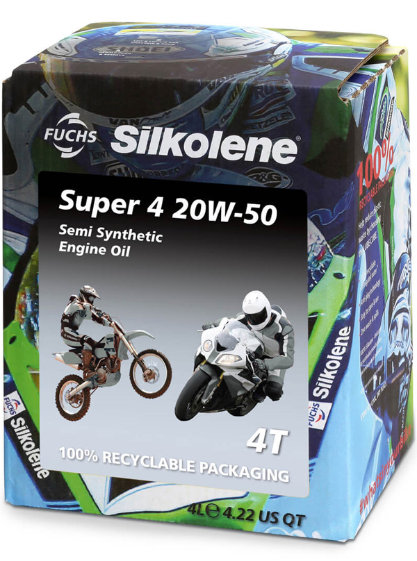 FUCHS Silkolene Super 4 20W-50 Motorcycle Oil